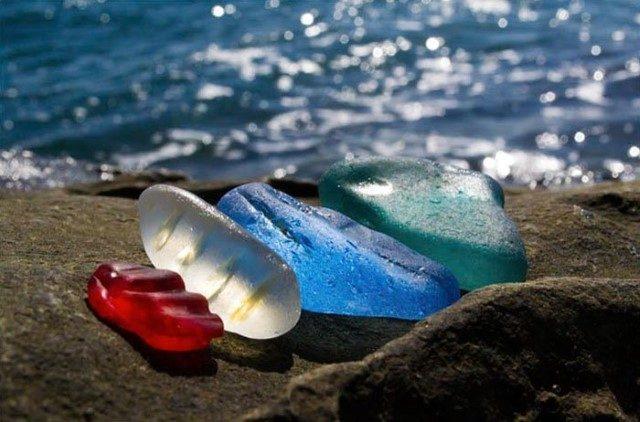 🍾 La costa de Ussuri, una bahía con una playa de cristal