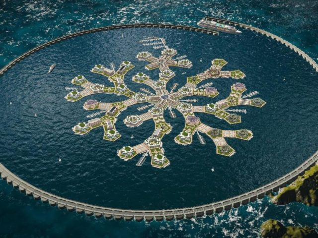 Una enorme ciudad flotante que sorprende al mundo