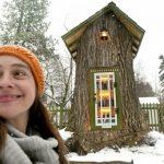 🌳 Transformó el tronco de un Árbol seco en una mágica Biblioteca Gratuita