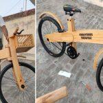 🚴 Carpintero creó una Bicicleta de Madera Ecológica durante el Aislamiento