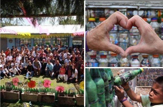 📚 Más de 100 Escuelas construidas con 'Eco-ladrillos' de Botellas Plásticas